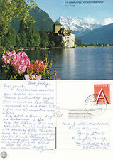 1995 CHILLON CASTLE MONTREUX SWITZERLAND UNUSED COLOUR POSTCARD