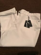 Simply Vera Vera Wang Roll Cuff Capri Mid Rise Woman's Size 22W New White
