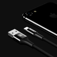 BASEUS LED Light USB Charger Cable For iPhone 8 7 6S Plus X 5 iPad Original Wire