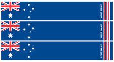 "15 - 6x1"" Aussie Flag Arrow Wraps with your name"
