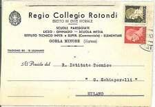 CARTOLINA d'Epoca - VARESE: Gorla Minore 1941 - COLLEGIO ROTONDI