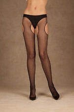 Fishnet Suspender Pantyhose New Adult Womens Sexy Valentine Black One Size