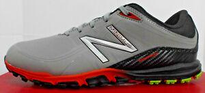 "NEW BALANCE Men's ""Minimus"" Spikeless Golf Shoes 1005, Grey/Orange, 8 1/2 M, NIB"