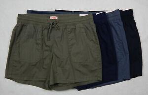 NEW Evri Comfort Waistband Womens Olive Navy Grey Black Shorts 16W - 24W