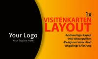 1x Visitenkarten Layout Firmengründung Visitenkarte Layout (VORDER-/RÜCKSEITE)