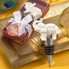1 Elephant Wine Bottler Stopper Wedding Favor Reception Gift Good Luck Charm