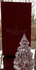 Waterford Crystal Figural Small Christmas Tree Figurine Mint in Box