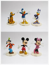6pcs/Set Mickey Mouse Clubhouse Mickey Minnie Goofy Pvc Figurines Kids Toy