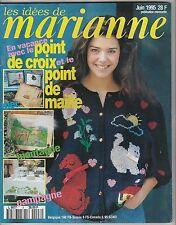 Les idées de Marianne N°8 Juin 1995 point de croix , tricot