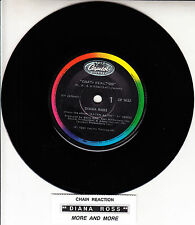 "DIANA ROSS  Chain Reaction 45 rpm 7"" vinyl record + juke box title strip"