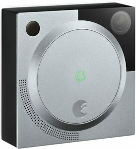 August Doorbell HD WiFi Surveillance Camera with Two Way Audio - Silver