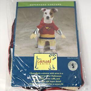 Casual Canine Halloween Superhero Dog Costume Red Sz S