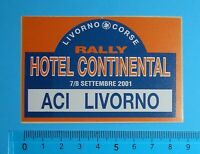 ADESIVO VINTAGE STICKER AUTO MOTO TUNING HOTEL CONTINENTAL ACI LIVORNO 9x6 cm