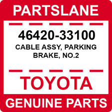 46420-33100 Toyota OEM Genuine CABLE ASSY, PARKING BRAKE, NO.2