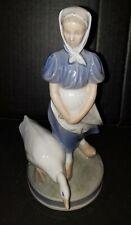 Vintage Royal Copenhagen Denmark Girl with Goose Porcelain Figurine, #527, Evc