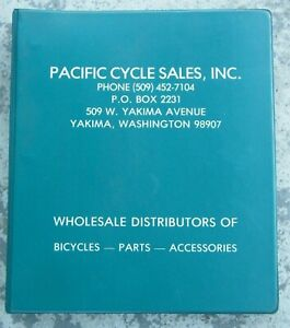 Vintage 1982 Pacific Cycle Sales Inc. Bicycle Parts Distributors Dealer Catalog