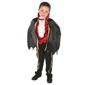 Vampire Costume & Cape Halloween Costume Outfit Creepy Boy Kids 3-8 Years
