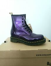 Dr Martens1460 Vegan Chrome Dark purple Size 3 New