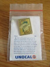 """UNOCAL 76 Gas Stadium Give-Away OAKLAND A'S ATHLETICS 1.25"""" Pin"""