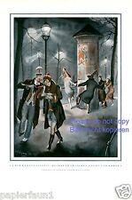 Karneval Heimkehr XL Kunstdruck 1930 Lipus Fasching Litfaßsäule tanzen Rausch