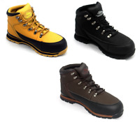 MENS Lightweight STEEL TOE CAP Safety WORK BOOTS Leather Shoes  TRAINERS SZ 5-13