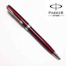 Parker Sonnet Ballpoint Pen Silver Clip Business Ball point Pen Blue Refill H5