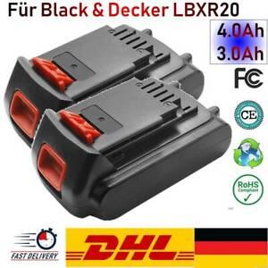 Für BLACK+DECKER Akku 4.0Ah 3.0Ah LBXR20 LB20 LBX20 BL1118 BL1318 BL1518 BL2018