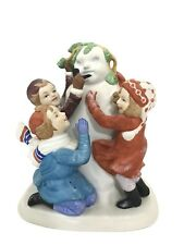 "Sarah Stilwell Weber Porcelain Figurine Danbury Mint "" Making A Snowman"""