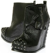 BNWOB KURT GEIGER STUDDED WEDGE ANKLE BOOTS 7 8 41