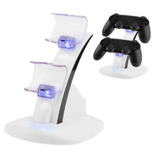 For PS4 Slim Controller Dual USB Charger LED Dock Station Charging Stand is6
