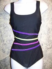Black slimming SUIT YOUR SELF Tummy Thinner swimming bathing swim suit 8 ret $80
