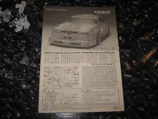 Vintage RC Kyosho Instructions Used Alfa Romeo 155 V6 TI 1:10