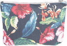 Tropical Hibiscus Tiki Flower make up Bag/cosméticos bolso rockabilly