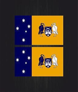 2x Autocollant sticker drapeau tuning valise australie capital territory