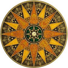 Compass Rose Geocoin 2012, Sahara, Antique Gold, Unactivated