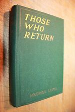 THOSE WHO RETURN (L'OMBRE) MAURICE LEVEL FIRST PRINTING 1923 MCBRIDE GORGEOUS