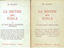 AUROBINDO SRI LA SINTESI DELLO YOGA UBALDINI 1967-1969 3 VOLUMI CIVILTA ORIENTE