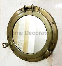 """17"""" Wall Hanging Mirror Porthole Round Antique Frame Home Decor Wall Mirror"""