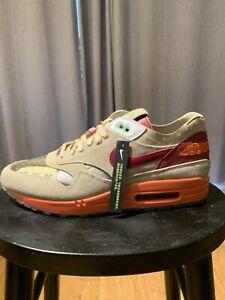 Nike Air Max 1 x CLOT Kiss of Death DD1870-100 Net Deep Red Orange Blaze Sz 13