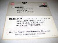 """LA PHILHARMONIC WALLENSTEIN CHABRIER BERLIOZ 10"""" LP VG+ Decca DL4087 1954"""