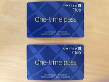 2 Passes for United Club One Time Pass EXP 12/31/2018 NOT CHASE E-pass available