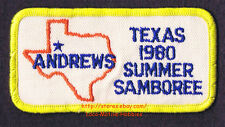 "LMH Patch  1980 GOOD SAM CLUB SAMBOREE  State Rally  ANDREWS TX  Summer Event 4"""