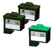 3 PACK For Lexmark 16 26 Ink Cartridge For X1270 X1290 X2230 X2240 X2250 X74 X75