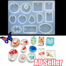 12 Silicone Mould Pendant Jewelry Making Necklace Mold Craft DIY Resin Round BO
