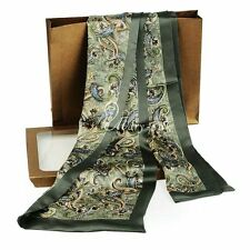 Gifts__Mens 100% Silk Long Scarf  Cravat Double Layer __For Spring Autumn