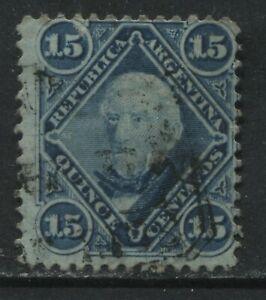 Argentina 1867 15 centavos blue used