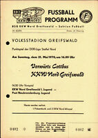DDR-Liga 69/70 KKW Nord Greifswald - Vorwärts Cottbus, 31.05.1970