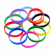 Rubber Bracelet Adult Mixcolour Dozen Silicone Wristband Party Fashion Wholesale