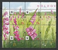 Moldova 2016 WWF Flowers  - Protected Flora: Turkish Marsh Gladiolus