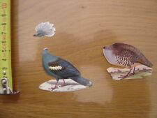 Chromo Decoupi Image GRIL BISCOTTES PAIN DE MIE Oiseaux pigeon Goura perdrix rou